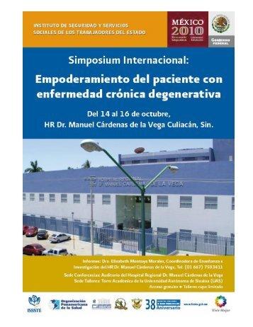 Simposium Internacional: Empoderamiento del paciente con ... - issste