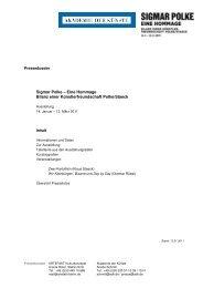 Sigmar Polke – Eine Hommage Bilanz einer ... - Akademie der Künste