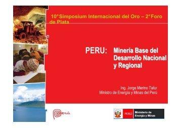 Simposium Internacional del Oro - Ministerio de Energía y Minas