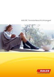 ADLER Fensterbeschichtungen - ADLER - Lacke