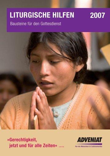 Liturgische Hilfen 2007 herunterladen - Adveniat