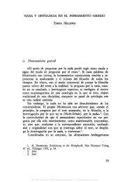 05. TOMÁS MELENDO, Nada y ontología en el pensamiento griego ...