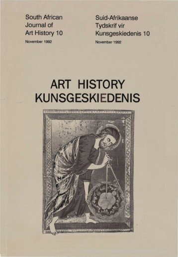 ART HISTORY KUNSGESKIEDENIS - University of Pretoria