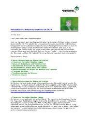 Newsletter des Odenwald-Instituts 04/2010