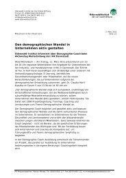 Den demographischen Wandel in Unternehmen ... - Odenwald-Institut