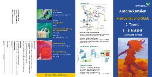 Programm Tagung Ausdrucksmalen 2013 - Odenwald-Institut