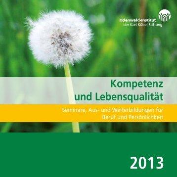 Programm 2013 - Odenwald-Institut