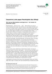 Gesprächs-Judo gegen Machtspiele des Alltags - Odenwald-Institut