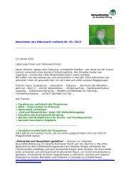 Newsletter des Odenwald-Instituts Nr. 01/2012