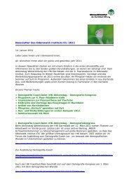 Newsletter des Odenwald-Instituts 01/2011