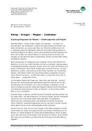 König – Krieger – Magier – Liebhaber - Odenwald-Institut