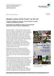 """Bergfest """"Komm auf die Tromm"""" am 18. Juni - Odenwald-Institut"""