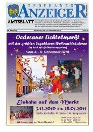 19. Jahrgang 12/2010 Mittwoch, der 01. Dezember ... - Stadt Oederan