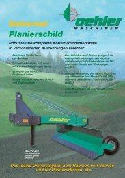 Universal Planierschild - Oehler Maschinen