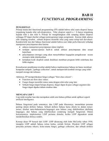 BAB II FUNCTIONAL PROGRAMMING