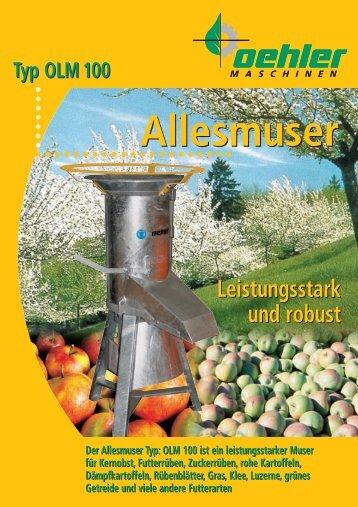 OEHLER Allesmuser - Oehler Maschinen