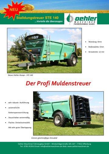 Stalldungstreuer STE 140 - Oehler Maschinen