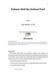 Kalimat Aktif dan Kalimat Pasif - Suaidinmath