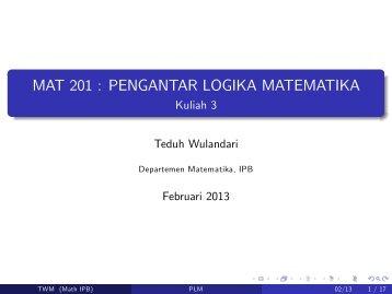 2013 Kuliah 3.pdf - Matematika IPB
