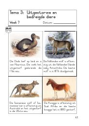Tema 3: Uitgestorwe en bedreigde diere