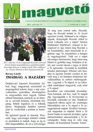 Magvető 2011. márciusi szám - Shp.hu