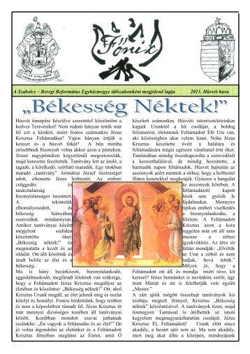 A Szabolcs – Beregi Református Egyházmegye ... - SHP.hu