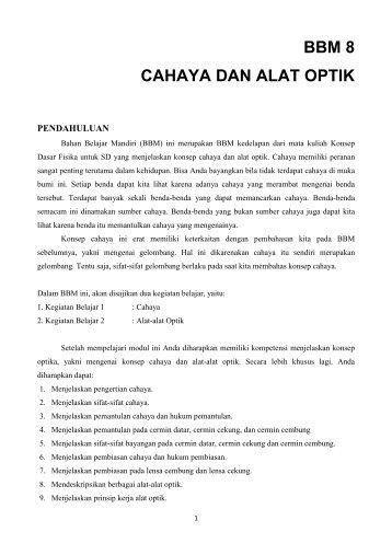 BBM 8 (Cahaya dan alat Optik) KD Fisika