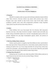 1 KALIMAT DALAM BAHASA INDONESIA Wagiati Fakultas Sastra ...