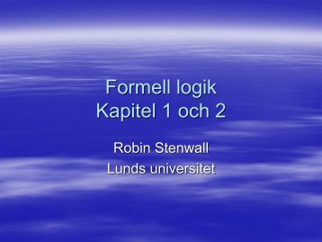 Föreläsning2[1] (PDF 4.3 MB - New window) - Lunds universitet