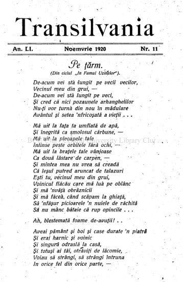 Noemvrie 1920 Nr. 11 - Lucian Blaga