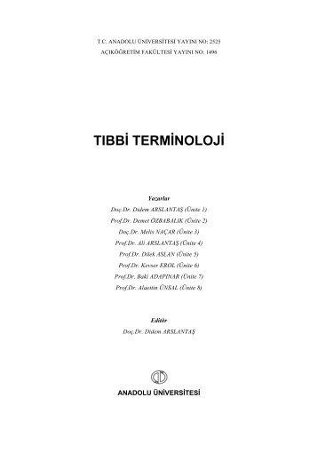 tıbbi terminoloji - Açıköğretim e-Öğrenme Portalı - Anadolu Üniversitesi