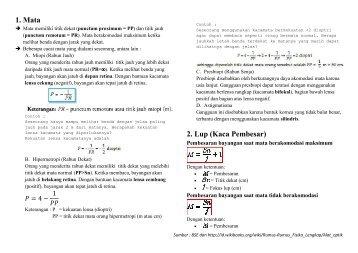1. Mata 2. Lup (Kaca Pembesar) ca Pembesar) - Math-Physics