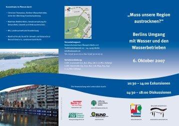 Berlins umgang mit Wasser und den Wasserbetrieben 6. oktober 2007
