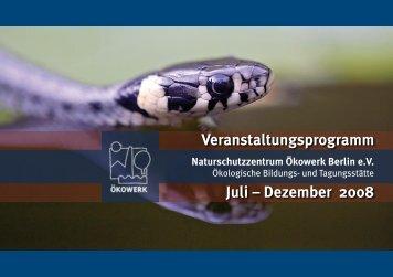 Programm Juli bis Dezember 2008 als pdf - Naturschutzzentrum ...