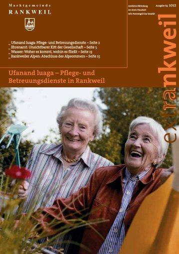 Ufanand luaga – Pflege- und ... - Marktgemeinde Rankweil