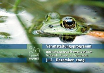 Veranstaltungsprogramm Juli – Dezember 2009