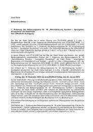 Stadt Oelde Bekanntmachung 1. Änderung des Bebauungsplans Nr ...