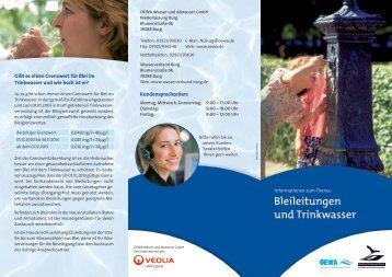 Bleileitungen und Trinkwasser - OEWA Wasser & Abwasser GmbH