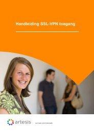 Handleiding SSL-VPN toegang - Artesis Hogeschool Antwerpen