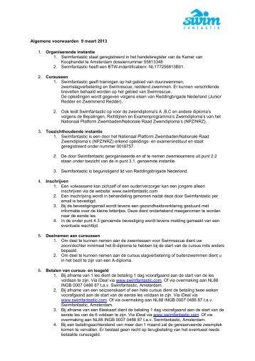 Algemene voorwaarden 9 maart 2013 1 ... - Swimfantastic