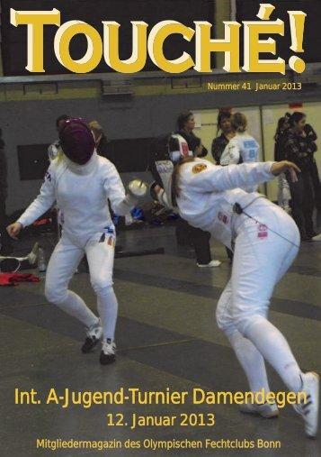 Int. A-Jugend-Turnier Damendegen - Olympischer Fechtclub Bonn