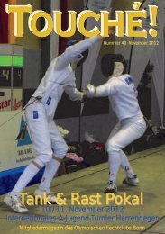 Tank & Rast Pokal - Olympischer Fechtclub Bonn