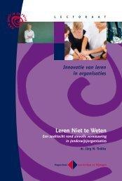 Leren Niet te Weten - een zoektocht rond zinvolle ... - ScienceGuide