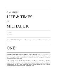LIFE & TIMES MICHAEL K - Get a Free Blog