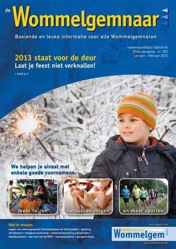 2013 staat voor de deur - Gemeente Wommelgem
