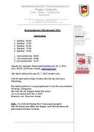 Niedersächsischer Tennisverband e.V. Region Südheide - NTV