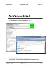 Anrufinfo als E-Mail - Accellence Technologies GmbH