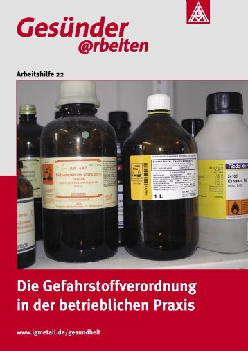 Die Gefahrstoffverordnung in der betrieblichen Praxis - IG Metall ...