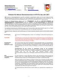 Kriterien für Aktiven-/Seniorenturniere im NTV für das Jahr 2013