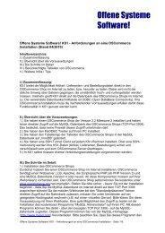 KS1-osCommerce - Offene Systeme Software!